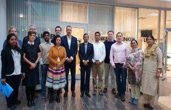 H.E. Mr. Krishan Kumar, Ambassador of India to Norway, attended the 2nd Workshop on Pilocene Arctic Climate (PACT) (RCN-INDNOR Programme, 2016-2020) at Tromso, Norway from 17-19 September 2018