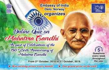 The Embassy of India launches Quiz No. 3 on Mahatma Gandhi