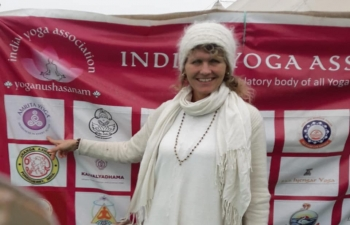 Ms. Ann Kristin Ulrichsen, the representative from Norway at the Kumbh Mela