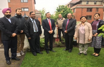The Ambassador of India, HE. Mr. Krishan Kumar, planted a sapling of cherry in the premises of the Embassy today to mark the World Environment Day and in memory of Mahatma Gandhi.