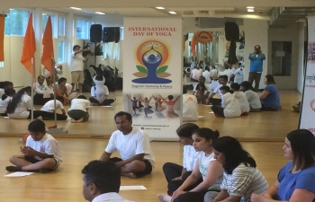 On June 21, the Embassy of India, in collaboration with HSS Norway, celebrated the International Day of Yoga 2019.