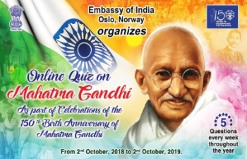 Gandhi Quiz for September 2019
