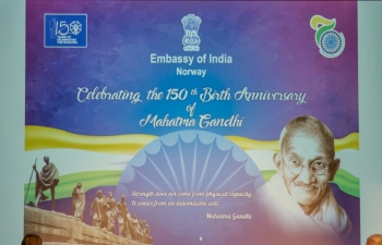 Celebration of 150th Birth Anniversary of Mahatma Gandhi - Symposium/Satya Vaarta in Oslo on Sunday, October 20, 2019