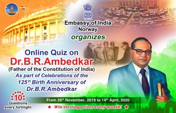The Embassy of India in Norway proudly launches Quiz No. 7 on Dr. B.R. Ambedkar