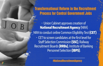 Cabinet approves setting up of a National Recruitment Agency (NRA) to conduct Common Eligibility Test