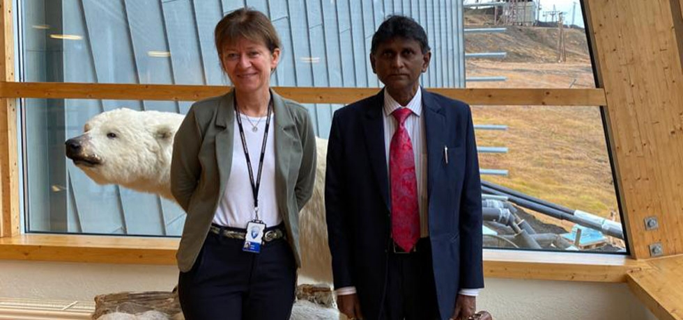 H.E Dr.B.Bala Bhaskar, Ambassador of India to the Kingdom of Norway's meeting with the Governor of Svalbard, H.E. Ms.Kjerstin Askholt on September 4, 2020