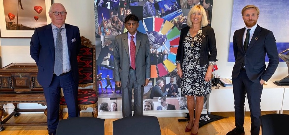 H.E. Dr. B. Bala Bhaskar, Ambassador of India to the Kingdom of Norway's meeting with the Mayor of Bergen, H..E. Ms. Marte Mjøs Persen on September 9, 2020