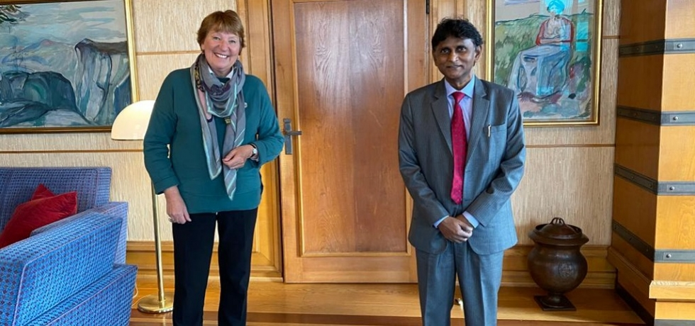 H. E. Dr. B. Bala Bhaskar's call on Mayor of Oslo, Ms. Marianne Borgen on 7 October 2020