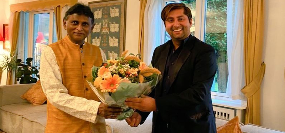 H.E.Dr. B.Bala Bhaskar, Ambassador of India to Norway felicitated Mr. Himanshu Gulati, an Indian-origin MP from the Progress Party, re-elected to the Parliament of Norway (Stortinget) in the recently concluded elections.